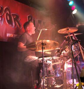 Brendan on Drums   Sugar Buzz Band